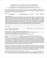Sample Real Estate Purchase Agreement Form - 6+ Free Documents In ...