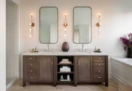 fabulous double vanity lighting minka lavery clear dome glass bathroom vanity light