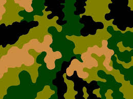 draw a camo pattern freehand to create a stencil or use a template from nature