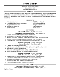 ... chemical technician resume, so you can build your own. With these resume  examples as a guide, you'll be one step closer to finding a great job.
