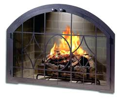 gas fireplace doors s natural glass open or closed