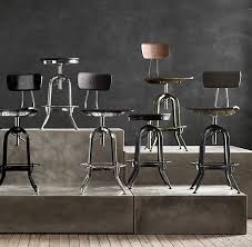 vintage toledo barstool distressed black bar counter stools restoration hardware