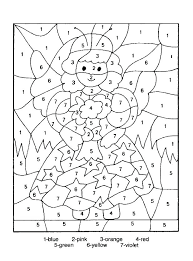 Free Math Coloring Pages Page Addition Printable Color By Number