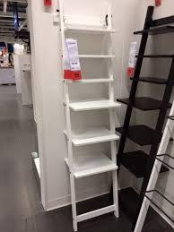 Furniture , 8 Stunning Leaning Shelf Ikea : White Leaning Shelf IKEA