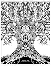 Tree Of Life Doodle Art Free Adult Coloring Page Karyn Lewis