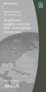 Rbc Avion Points Redemption Chart Reach New Heights With The Rbc Visa Infinite Rbc Royal