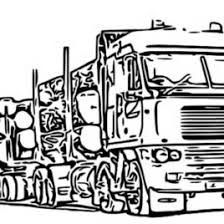 logging coloring pages log truck coloring pages sketch coloring page logging truck coloring