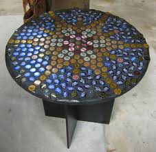 bottle cap furniture. Beer Bottle Cap Table Furniture .