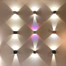 Sluce Pro Würfelförmige Led Wandleuchte Ixa Verstellbare Winkel Braun Sand