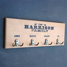 Name Coat Rack Personalised Wooden Coat Hook Coat Hooks Bespoke And Paint Furniture 9