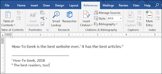 Endnotes References How To Use Footnotes And Endnotes In Microsoft Word
