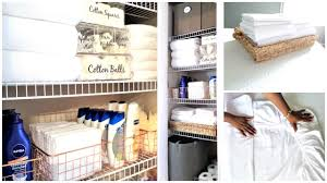 how to organize a small linen closet organization tips tour