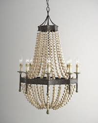 french country scalloped wood bead chandelier regina andrew style 8 light