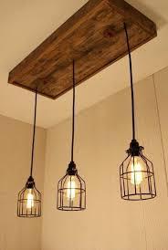edison light bulb chandelier handmade cage with 3 lights bulbs chandeliers lighting wood thomas