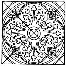 meval tile circle pattern