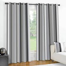 cream striped eyelet curtains