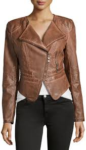 faux leather cropped jacket brown