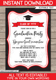 Senior Party Invitations Graduation Party Invitations Template Printable Graduation