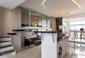modern furniture small apartments. Apartment Cozy Tan Fabric U Shaped Sectional Sofa Small Size Furniture White Shade Ceiling Pendant Lamp Modern Apartments P
