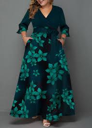 Modlily Size Chart Plus Size Floral Print High Waist Dress Modlily Com Usd 38 68