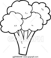 broccoli clipart black and white. Perfect And Black And White Cartoon Broccoli To Broccoli Clipart Black And White