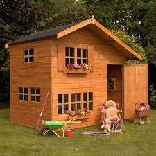 lawn garden excellent brown striped wood laminated wood garden playhouse design ideas with brown rectangle windows also rectangle brown wood door and