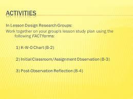 Lesson Design Workshop Objective 1 Design Coherent