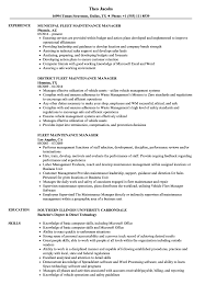 Fleet Maintenance Manager Resume Samples Velvet Jobs