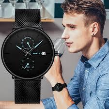 <b>CRRJU New</b> Fashion Mens Watches Top <b>Brand</b> Luxury Quartz ...