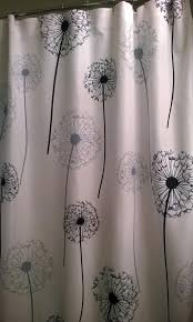 cool fabric shower curtains. Dandelion Fabric Shower Curtain In Your Choice Of Two Colors Cool Curtains