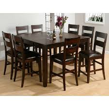 tall dining chairs counter: steve silver crosspointe  piece counter height dining table set with optional server dark espresso cherry dining table sets at hayneedle