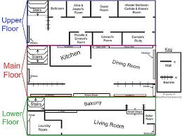 Floor Plan Twilight House  Homes ZoneCullen House Floor Plan