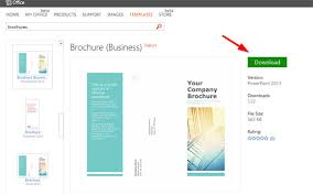 Templates For Brochures Free Download Powerpoint Brochure Templates Free Download Tadlifecare Com