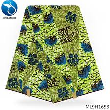 <b>LIULANZHI</b> 100% cotton prints <b>African wax</b> lemon green african ...