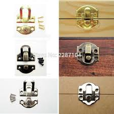 2018 whole decorative iron antique brass silver golden jewelry box gift wine wooden case furniture hasp latch lock clasp 26mm x 29mm from sophine09