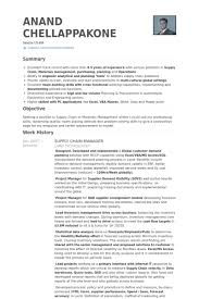 Supply Chain Manager Resume Example Manager Resume Resume