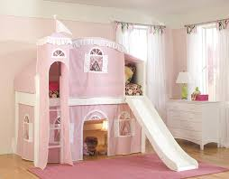 bedroom furniture for girls castle.  Bedroom Amazoncom Bolton Furniture 9811500LT6PW Cottage Low Loft Castle Bed  White With PinkWhite Top Tent Bottom Playhouse Curtain Tower And Slide Kitchen U0026  On Bedroom For Girls E