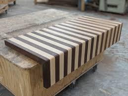 walnut hard maple cutting board in the wood countertop