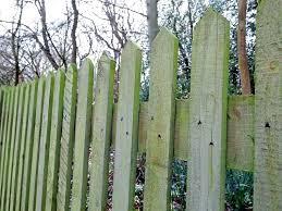 wooden garden fence lap panels overlap fencing panel