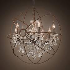 modern globe chandelier crystal globe chandelier beautiful andromedo