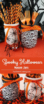 Spooky Halloween Mason Jars. Fun Halloween DecorationsHalloween Party ...