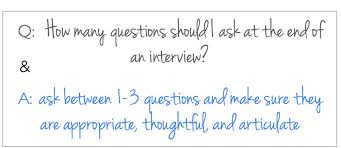 Good Questions To Ask The Interviewer How Many Questions To Ask At The End Of A Job Interview