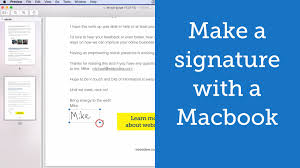 how to create online signature how to make a digital signature with a macbook youtube