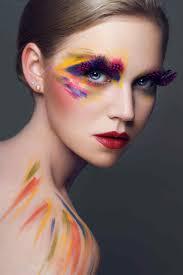 fashion creative makeup colourful makeup photoshoot