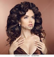 Hairstyle For Curly hairstyle curly hair beauty makeup fashion stock photo 691117837 8722 by stevesalt.us