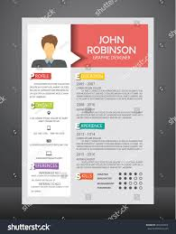 Job Resume Cv Template Layout Template Stock Vector Royalty Free