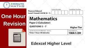 edexcel gcse higher maths calculator questions