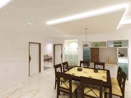 Dining Room And Bar Design The Dining Area With Home Bar Design By Samanth Gowda