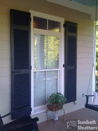 Top Section Of Louvered Shutter Nicely Aligns With Transom Window - Exterior transom window