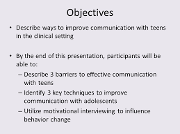 Improve interaction teens for